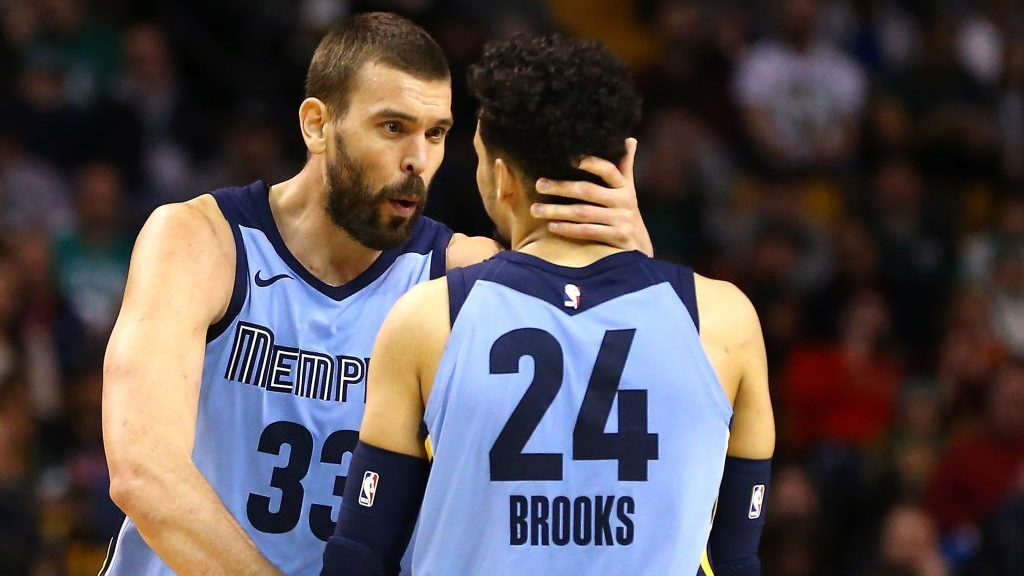 Grizzlies Dillon Brooks and Marc Gasol